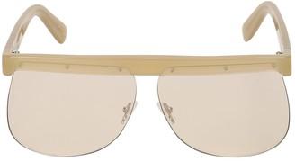 Courreges The Mask Khaki Acetate Sunglasses