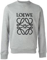 Loewe logo embroidered sweatshirt - men - Cotton - L