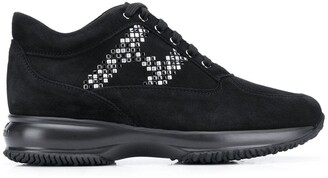 Hogan Interactive studded-logo sneakers