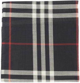 Burberry Lightweight Check Wool Silk Scarf