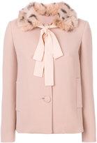 L'Autre Chose patterned collar jacket - women - Viscose/Wool - 40