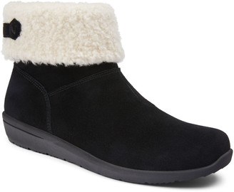 Vionic Suede Shearling Ankle Boots - Ruth