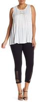 Lysse Claudia Macrame Crop Legging (Plus Size)