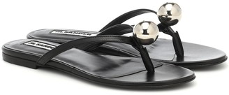Jil Sander Leather thong sandals