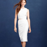 J.Crew Collection pencil skirt in cotton-silk twill