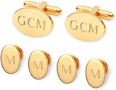 Asstd National Brand Personalized Formal Set Cuff Links & 4 Shirt Studs
