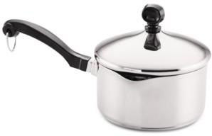 Farberware Classic Stainless Steel 1-Qt. Straining Saucepan & Lid