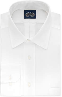 Eagle Men Classic-Fit Stretch Collar Non-Iron Solid Dress Shirt