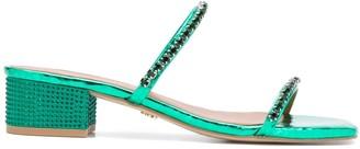 Kurt Geiger Priya embossed style sandals