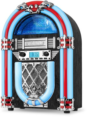 Victrola Nostalgic Wood Countertop Jukebox With Built-In Bluetooth