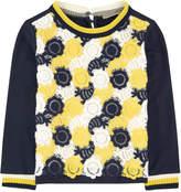 Ermanno Scervino Bi-material sweatshirt