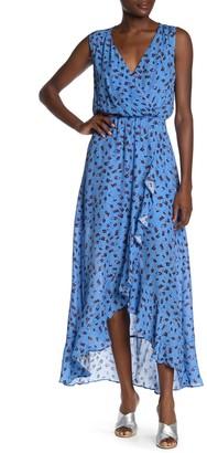 Parker Betty Floral Print Silk Blend Faux Wrap Dress