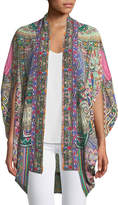 Camilla Open-Front Cardi Cape Coverup, One Size