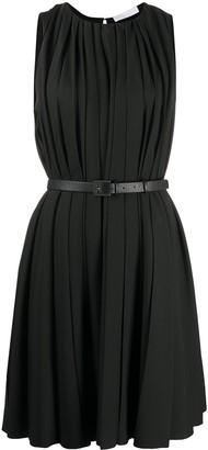 Fabiana Filippi Pleated Belted Mini Dress