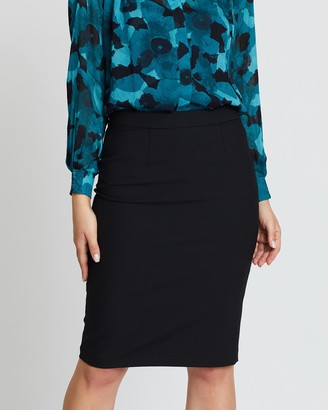 David Lawrence Women's Black Pencil skirts - Stevie Pencil Skirt - Size One Size, 6 at The Iconic