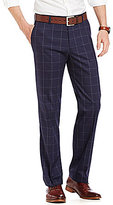 Murano Alex Modern Slim Fit Flat-Front Windowpane Pants