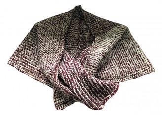Dries Van Noten Burgundy Wool Scarves