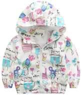 Zhengpin Baby Fashion Outerwear Toddler Kids Cartoon Animal Jacket Hooded Coat 3-7Y