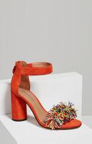 BCBGMAXAZRIA Misha Pom-Pom Ankle Strap Sandal