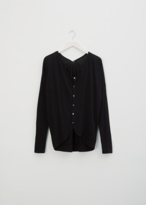 Pas De Calais Cotton Cardigan Top Black