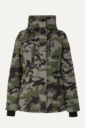 Canada Goose Rideau Camouflage-print Shell Down Parka - Green