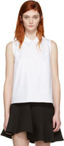 Carven White Collar Detail Blouse