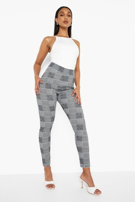 boohoo Dogtooth Check Skinny Trousers