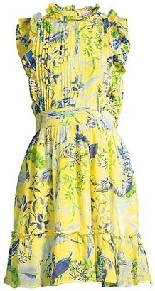 Banjanan Hyacinth Silk A-Line Mini Dress