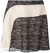 Carven lace panel skirt