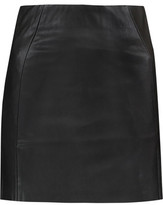 McQ Faux Leather And Stretch-Jersey Mini Skirt