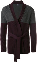 Eleventy shawl lapel ribbed cardigan - men - Virgin Wool - S