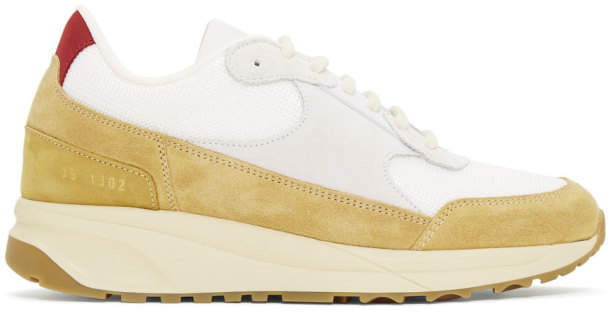 Common Projects Woman By Woman by Tan New Track Sneakers