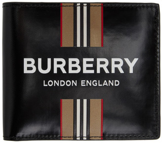 Burberry Black Icon Stripe International Wallet