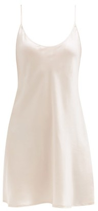 La Perla Scoop-neck Silk-satin Slip Dress - Light Pink