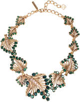 Oscar de la Renta Women's Cut-Out Jeweled Leaf Necklace