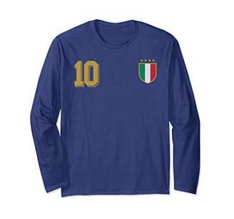Italy Design in Football Soccer Style for Italian Fans Long Sleeve T-Shirt