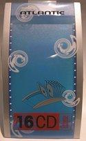 Atlantic Eclipse 3661-28 16 CD Desk Top Flip File - Blue by