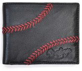 Rawlings Sports Accessories Men's 'Baseball Stitch' Leather Wallet - Black