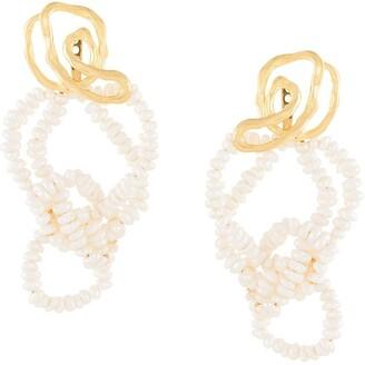 Joanna Laura Constantine Pearl-Embellished Drop Earrings