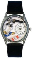 Whimsical Watches Women's S0610001 Doctor Black Leather Watch