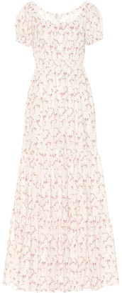 Caroline Constas Bardot stretch cotton maxi dress