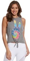Chaser Peace Fingers Yoga Crop Tank 8155710