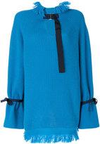 Sacai knit pullover - women - Cupro/Wool - 1