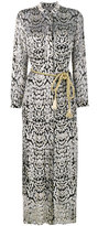 ADAM by Adam Lippes long leopard print shirt dress - women - Silk/Lurex/Viscose - 4