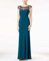 Xscape Evenings Embellished Illusion A-Line Gown
