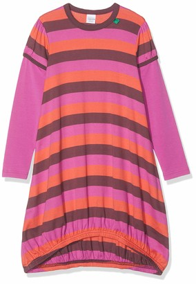 Fred's World by Green Cotton Girl's Multi Stripe Dress