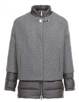 Fay Down Jacket With Wool And Cashmere Cape