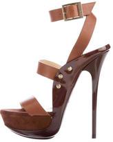 Jimmy Choo Leather Platform Sandals