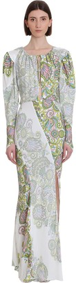 Lanvin Dress In White Silk
