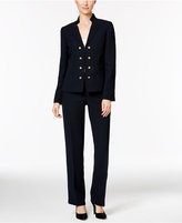 Tahari ASL Crepe Military Double-Breasted Pantsuit